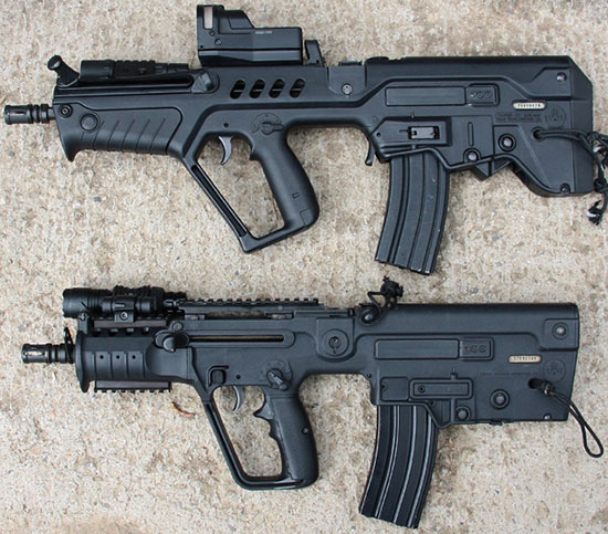 Tavor CTAR-21 (сверху) и X95 Rifle / Carbine (снизу)